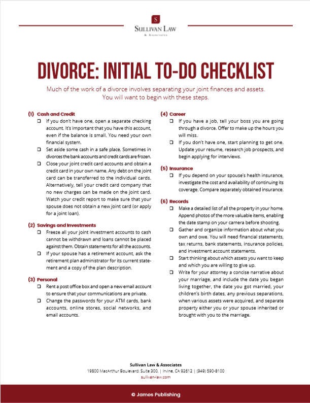 Initial-Divorce-To-Do-Checklist