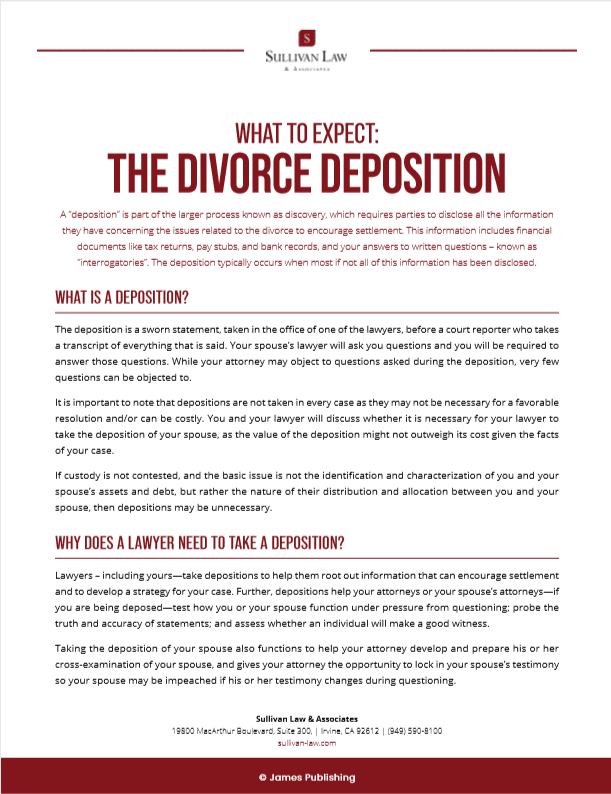 Divorce-Deposition