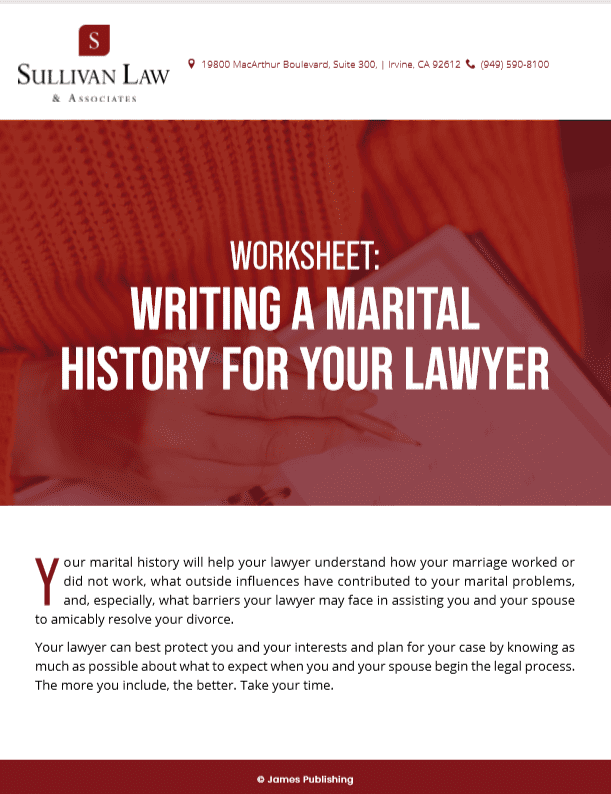 Marital History for Your Lawyer